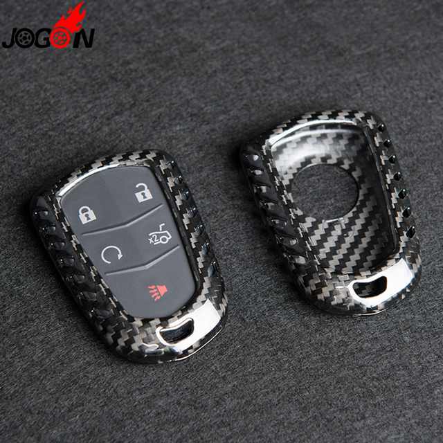 Real Carbon Fiber Remote Key Fob Case Shell Cover For