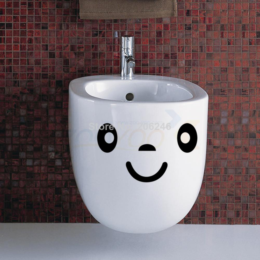 Buy cute smile face big eyes toilet for Decoration toilette
