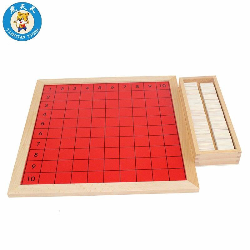 Montessori mathématiques bébé jouets apprentissage éducation jeux préscolaire matériel d'enseignement pythagore Multiplication conseil