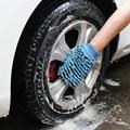 1 Pcs de Alta Qualidade da Fibra Ultrafina Chenille Antozoários Luvas de Lavagem de Carro Esponja da Limpeza Do Carro 5 Cores 24*13*7 CM lavagem voiture