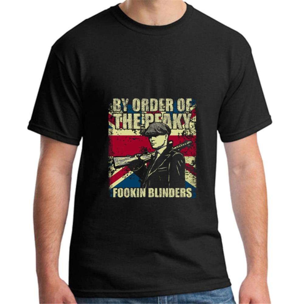 By Order of The Peaky Fookin Blinders - Peaky Blinders   T     Shirt   Hip-Hop Simple Splicing Tee Tops   T  -  Shirt   Sale New Fashion Summer