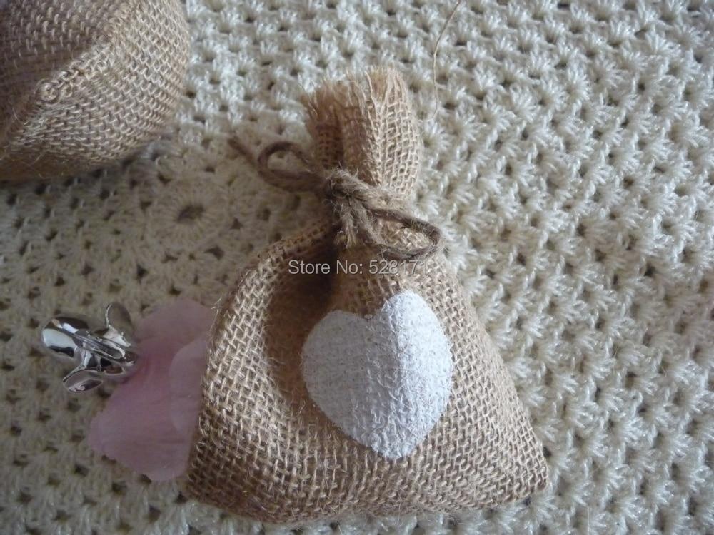 Valentines day decor wedding favor bags burlap gift bag for Burlap sack decor