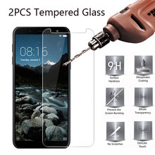 2PCS Tempered Glass Film on For Samsung Galaxy A6 A8 Plus A7 2018 A50 A30 A40 9H Screen Protectors For Samsung Galaxy S4 S5 S6(China)