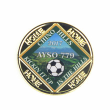 Manufacturer custom football coin high quality Epoxy printing coin 2017 high quality custom embedded box plastic injection mold manufacturer