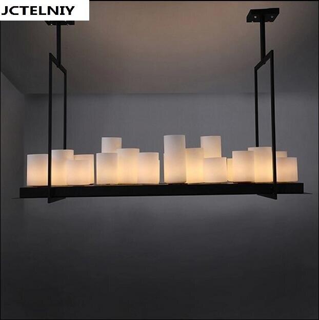 Led pendentif lampe Américain rétro Français designer style marbre bougeoirs droplight village restaurant droplight