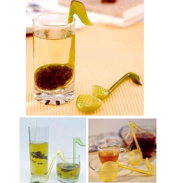 Newly Tea Strainer Teaspoon Filter Infuser Teabag Music Note Shape Teapot Mug Holder Drinkware Tool XSD88