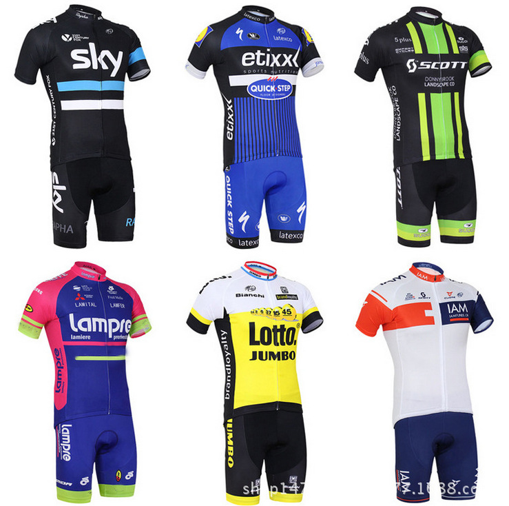 Version of The Team Jersey IAM SKY Blue Short Sleeved Suit Brisk Cycling Wear Short Sleeved Summer Clothes Riding seize the sky