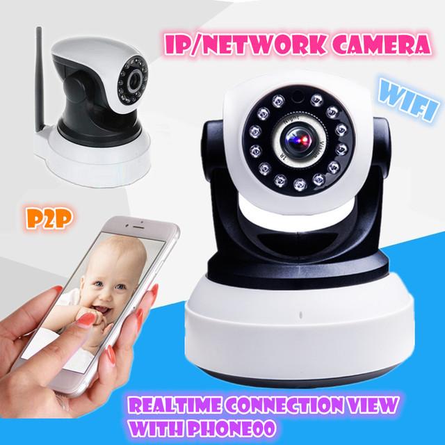 Cámara IP inalámbrica Wifi 720 P HD apoyo tarjeta sd Audio Mega Alarma Onvif P2P APLICACIÓN GRATUITA de la Red PTZ IR-CUT de La Visión Nocturna de Grabación
