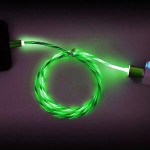 Image 5 - Магнитный кабель Rosinop 2.4A для быстрой зарядки 3 в 1 для iphone, светящийся Магнитный зарядный кабель USB Type C для xiaomi Micro USB Android
