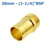"""2 יחידות 38 מ""""מ זנב עקיצה צינור כדי 1 1/4 """"PT חוט זכר BSP ישר מחבר פליז תיל התאמת מצמד מתאם משותף צינור נחושת"""