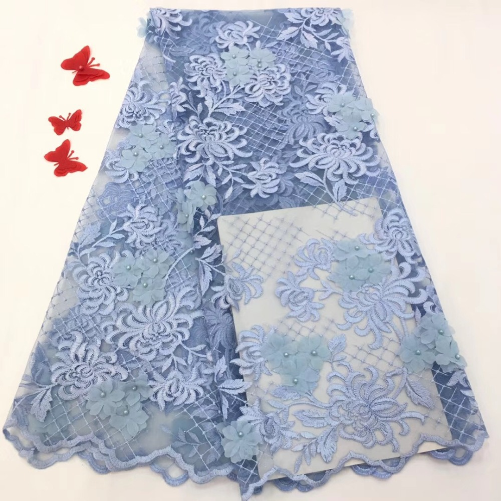 Embroidered Tulle Lace Fabric, Lace Applique Fabric For Wedding, African 3D Flower Lace Fabric High QualityEmbroidered Tulle Lace Fabric, Lace Applique Fabric For Wedding, African 3D Flower Lace Fabric High Quality