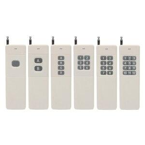 Image 1 - 433 MHz 3000 m 장거리 원격 1CH 2CH 4CH 6CH 8CH 12CH 1 2 4 6 8 12 CH RF 원격 제어 Telecomando Trasmettitore