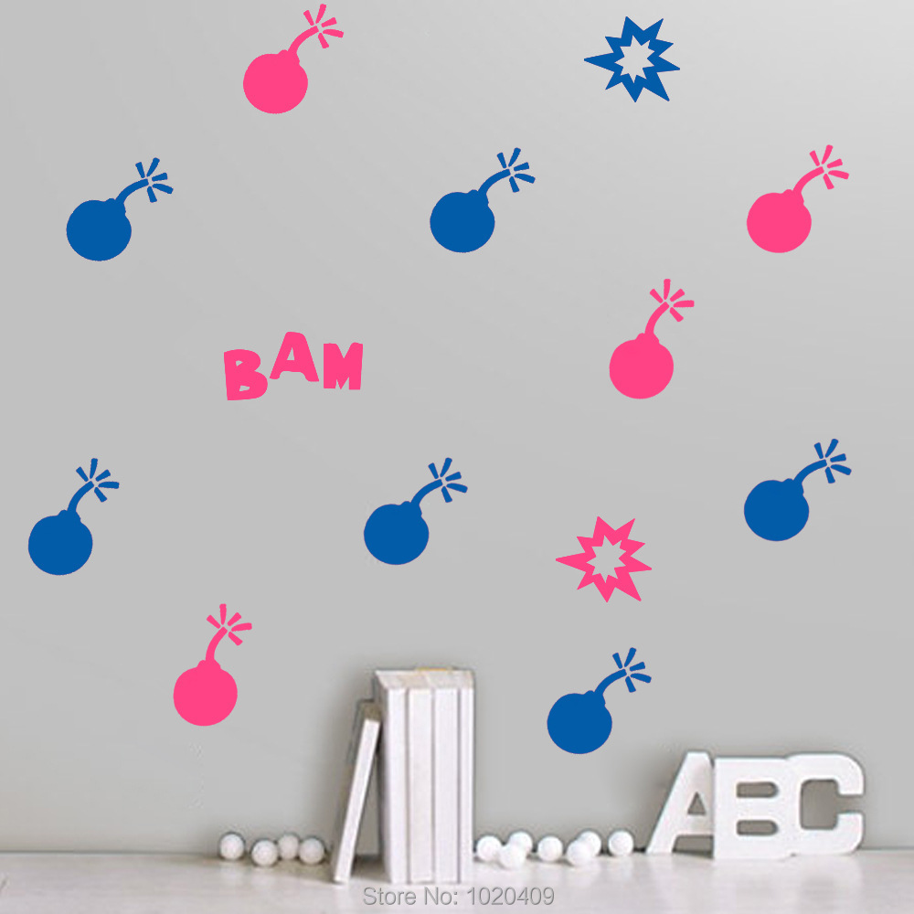 Online buy wholesale bomb sticker wallpaper from china for Exclusive wallpapers for walls