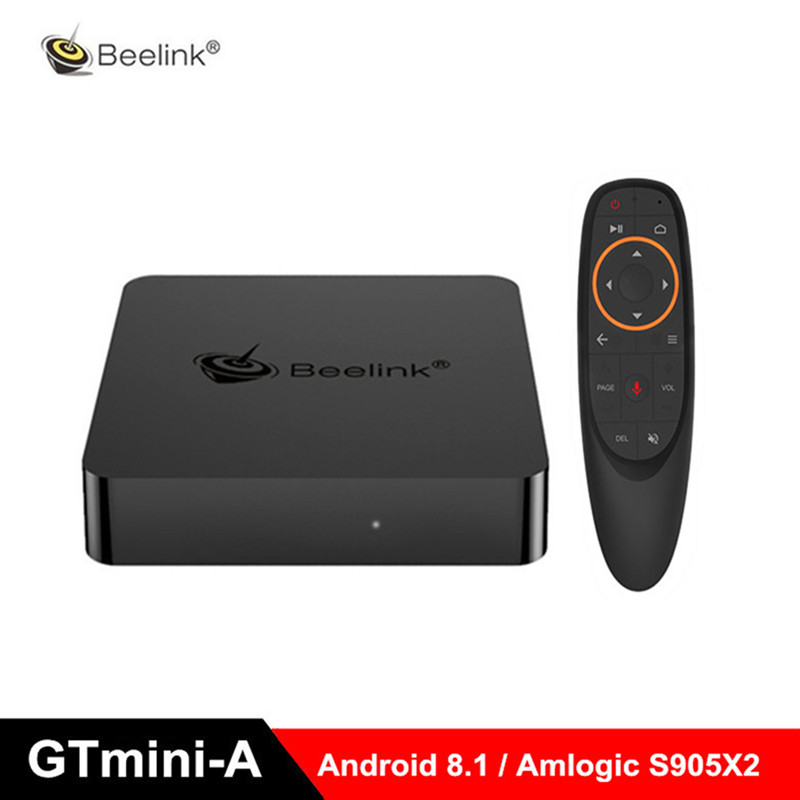 Beelink GTmini-A Smart Android 8.1 TV Box Amlogic S905X2 Set Top Box 2.4G Voice Remote Support Netflix 4K Upgraded GT1 Mini