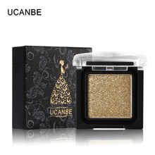 UCANBE Brand 8 Colors Single Metallic Eye Shadow Makeup Palette Nude Shimmer Matte Pigmented Glitter Eyeshadow Cosmetics Set(China)