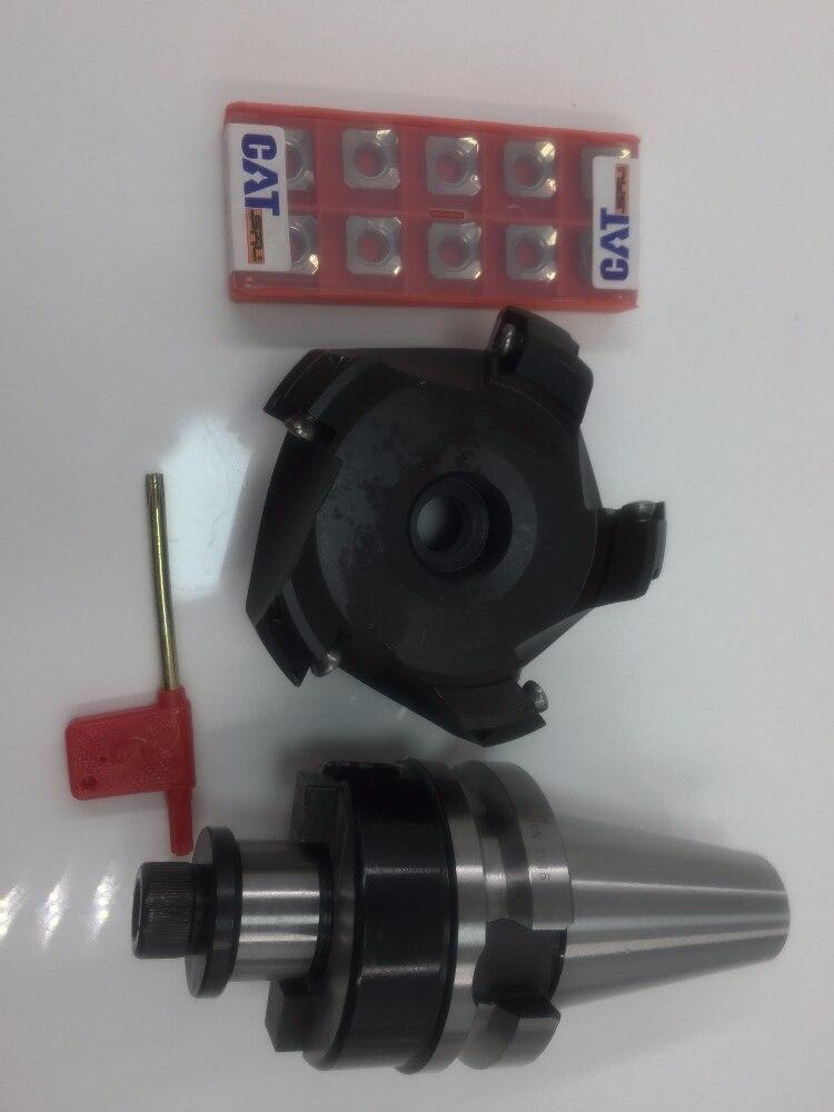 BT30 FMB22 45mm M12 Holder +BT40 SE-KM12-45 degree face mill cutter KM12 63-22-4T +10pcs SEKT1204 aluminium carbide inserts free shipping good quality 50mm 63m 80 km face mill km12 63 22 face mill milling cutter cnc milling tools for inserts sekt1204
