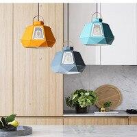 Personality Nordic Pendant Lights Diamond Art Design Suspension Lamp For Kitchen Corridor Asile Home Lighting Macaron Led Light