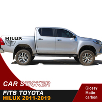 free shipping tailgate graphic vinyl direction indicator car sticker for fits toyota hilux 2011 2019