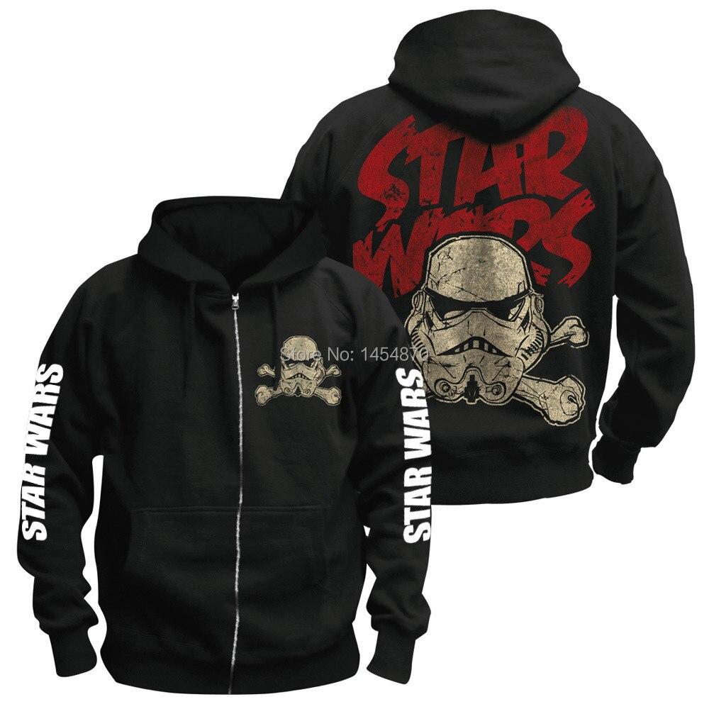 9 ontwerpen Rits Sudadera Film Star Wars Darth vader Bovenkleding Hoodies Winter jas Punk Zwart Sweatshirt fleece XXXL-in Hoodies en sweaters van Mannenkleding op  Groep 1