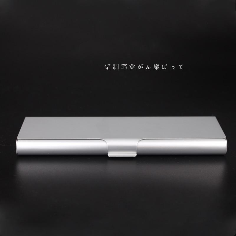 Japan MUJI Aluminum Pencil Box Metal Pencil Cases 1PCS muji japan 4 layers facial cotton pad 60 sheets x 2 box