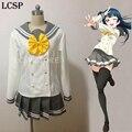 Tsushima Yoshiko LoveLive! Sunshine Aqours Cosplay Costume Japanese Anime Love live Girl Sailor School Uniform Clothes