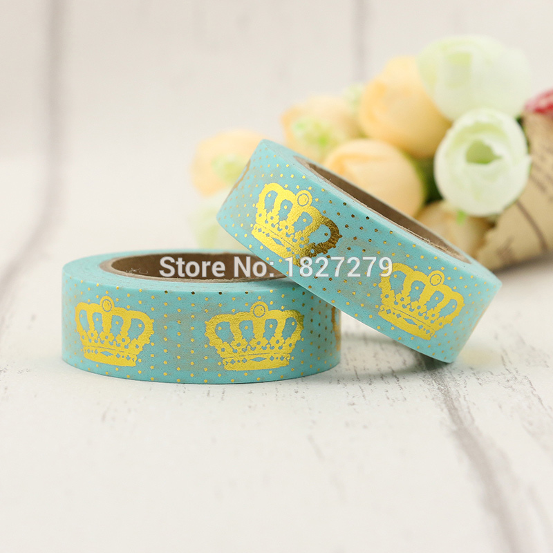 New 1pc/lot Decorative Cute Kawaii Royal Crown Patterned Washi Tape Set,Masking Tape Scrapbooking Craft & Hobby Supplies
