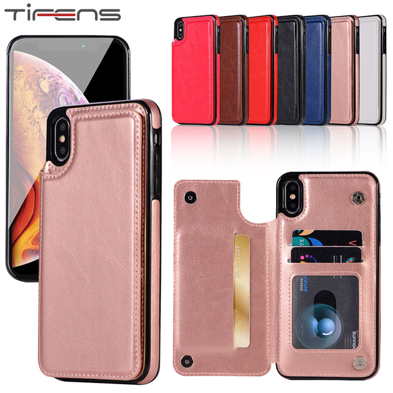 <font><b>Leather</b></font> <font><b>Case</b></font> For <font><b>iphone</b></font> 11 Pro X XS MAX XR 5 5s se 6 6s 7 <font><b>8</b></font> <font><b>Plus</b></font> Magnetic Card Holder 7plus 8plus Stand Wallet Phone Cover Etui image