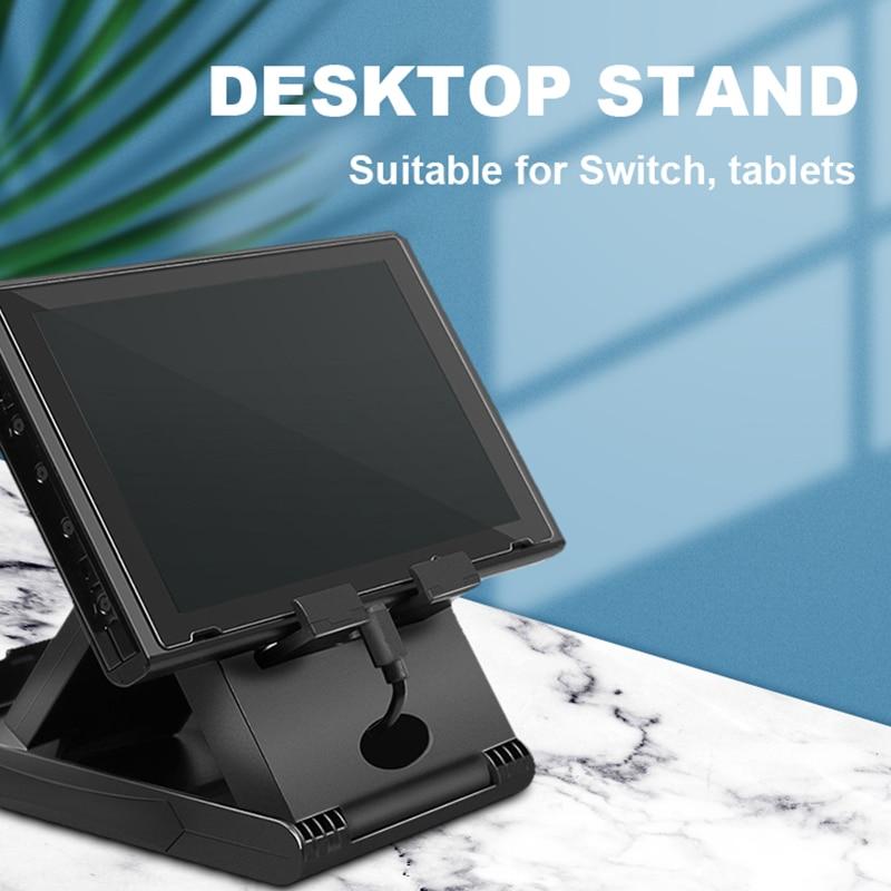 Image 2 - Data Frog Portable Desktop Stand Holder For Nintend Switch Mobile Phone Tablet Adjustable Fold Base Bracket for Nintendo Switch-in Stands from Consumer Electronics