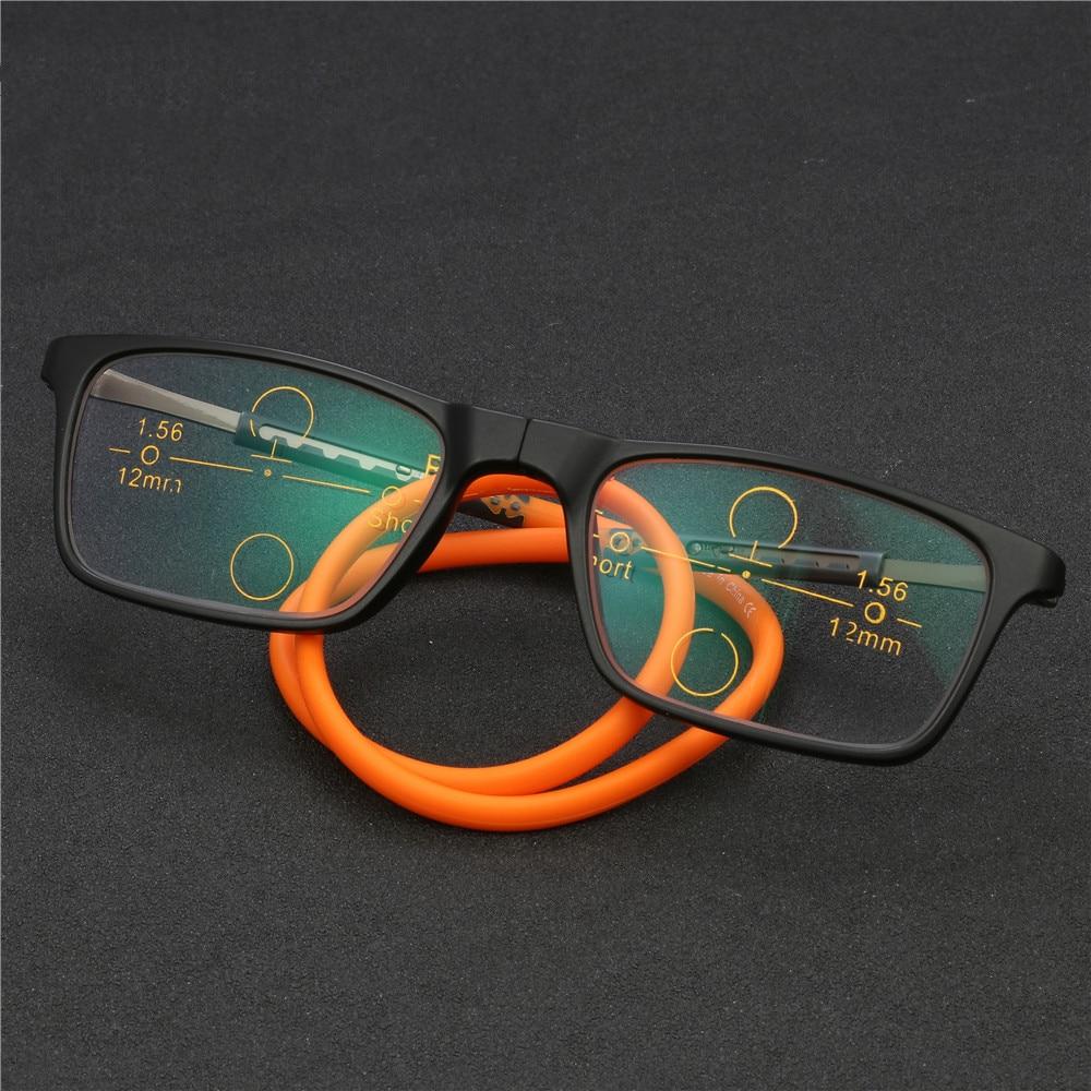 New Atualizado Óculos de Leitura Ímã Óculos de Leitura Multifocal  Progressiva Inteligente Dobra De Borracha Óculos cf393195de