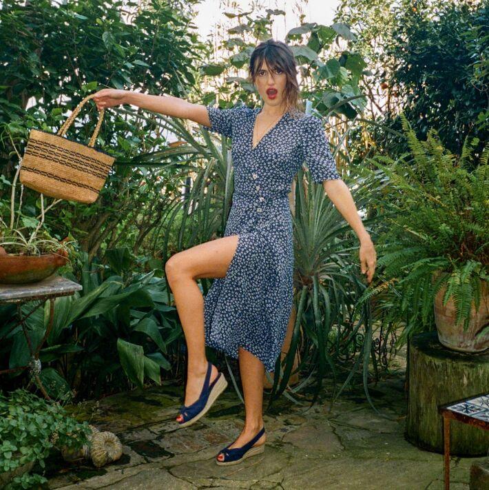 Wrap noir V D'été Dames Robe Élégant cou Efatzp Femmes À bleu Plage Robes 2018 Beige Manches Fleurs Courtes Imprimer Mi mollet Sw1PqgA