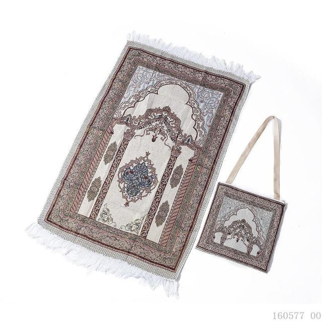 Woven Cotton Muslim Prayer Rug for Living Room Modern Carpet Soft Turkish Carpets Japanese Mat Tatami Summer Blanket with Bag