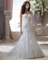 Amdml Bling Beaded Crystals Embroidery Appiques Mermaid Wedding Dresses 2016 Fantasy Sweetheart Neck Chapel Train Bridal Gowns
