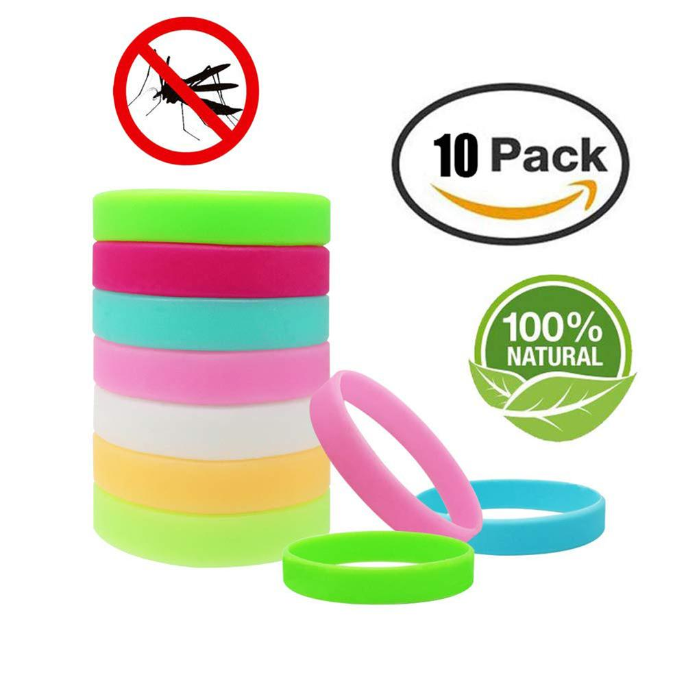 3/5/10 Pcs Anti Mosquito Bracelet Pest Insect Bugs Control Mosquito Repellent Wristband For Camping Outdoor Kids Mosquito Killer