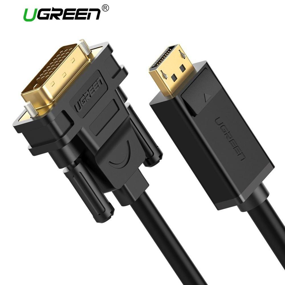 Ugreen 1080 P displayport DP ZUM DVI Kabel Adapter DP Stecker auf DVI-D 24 + 1 Stecker auf Adapter für Projektor TV-Monitor PC Laptop