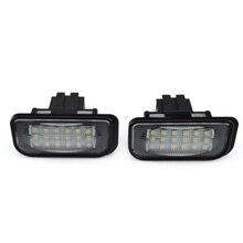 цена на 2PCs Lamp License Plate Light LED Indicators For Mercedes Benz W203 W211 W219 E High Quality