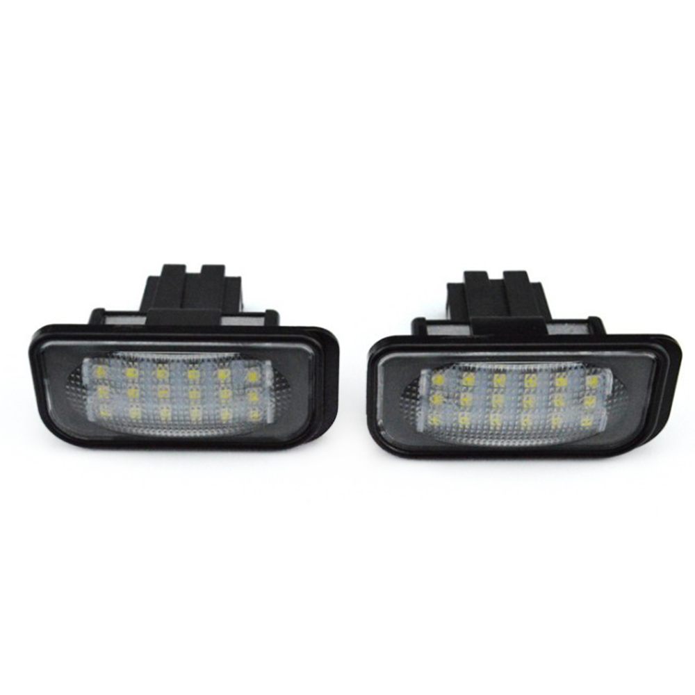 2PCs Lamp License Plate Light LED Indicators For Mercedes Benz W203 W211 W219 E