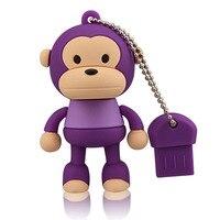J-권투 보라색 64 기가 바이트 usb 플래시 드라이브 재미있는 원숭이 디자인 pendrive 메모리 스틱 여성 16g 32g 엄지 드라이브 컴퓨터 맥 태블릿