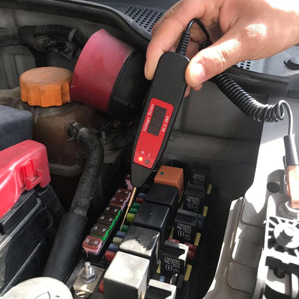 1 Pcs Digital Test Pencil Multi function Digital Display Voltage Tester Test Pen 5 36V For Car Boat Trailer RV's Motorcycle