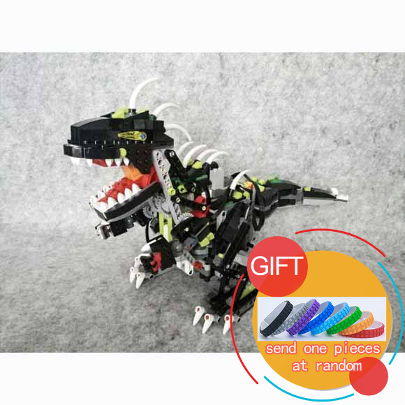 24010 Creative Series The three-in-one remote control vocal dinosaur set Children building  Gift 4958 Toys lepin love for three oranges vocal score