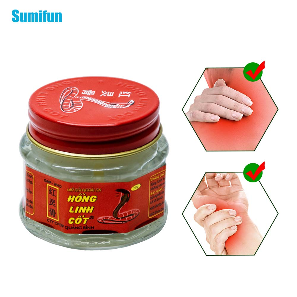 Sumifun 100% Natural Herbal Original Vietnam Snake Balm Painkiller Ointment Muscle Pain Relief Ointment Soothe Itch 20g P0007