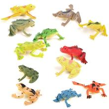 12 PCS Creativity Simulation Frogs Model Action Toy Set Figures Learning Education Funny toys for Kids Children Gift