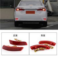 2X For Toyota Corolla Lexus Car Styling Auto Rear Bumper Reflectors Light LED Driving Brake Stop
