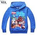 2016 Camisola Outono A Vida Secreta dos Animais de Estimação Roupas de Algodão Azul Hoodies Para Meninos Crianças Camisola Crianças Hoodies Outwear