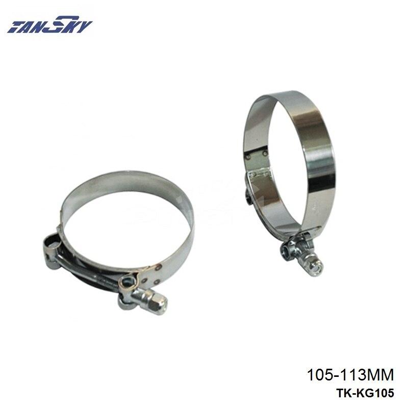 4.0 INCH (105MM-113MM) SILICONE TURBO HOSE COUPLER T BOLT SUPER CLAMP KIT TK-KG105