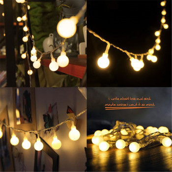 2M/3M/4M/5M/10M 20/30/40/50/80Led Fairy Christmas Lights Ball Battery LED string lights for holiday Wedding Party Outdoor Indoor christmas string light led battery light 2m 3m 4m 5m 10m holiday lights wedding led decoration lamp series battery
