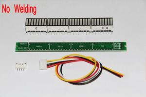 Image 4 - 32 LED מוסיקה חשמל מחוון רמת VU מטר מד אודיו עבור מגבר לוח מתכוונן אור מהירות לוח AGC מצב