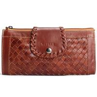 Knitting Pattern Oil Waxing Clutch 100 Genuine Leather Shoulder Bag Women Handbag Retro Ms Full Leather