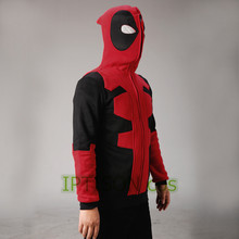 2016 Deadpool Hoodie Marvel Hooded Men Sweatshirt Zipper Outerwear Jacket 3D Anime Characters Hoodies Deadpool Cosplay Costume