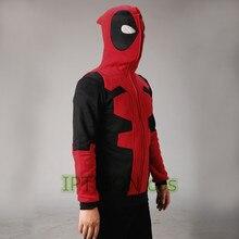 2016 Deadpool Hoodie Marvel Mit Kapuze Männer Sweatshirt Reißverschluss Oberbekleidung Jacke 3D Anime Charaktere Hoodies Deadpool Cosplay Kostüm