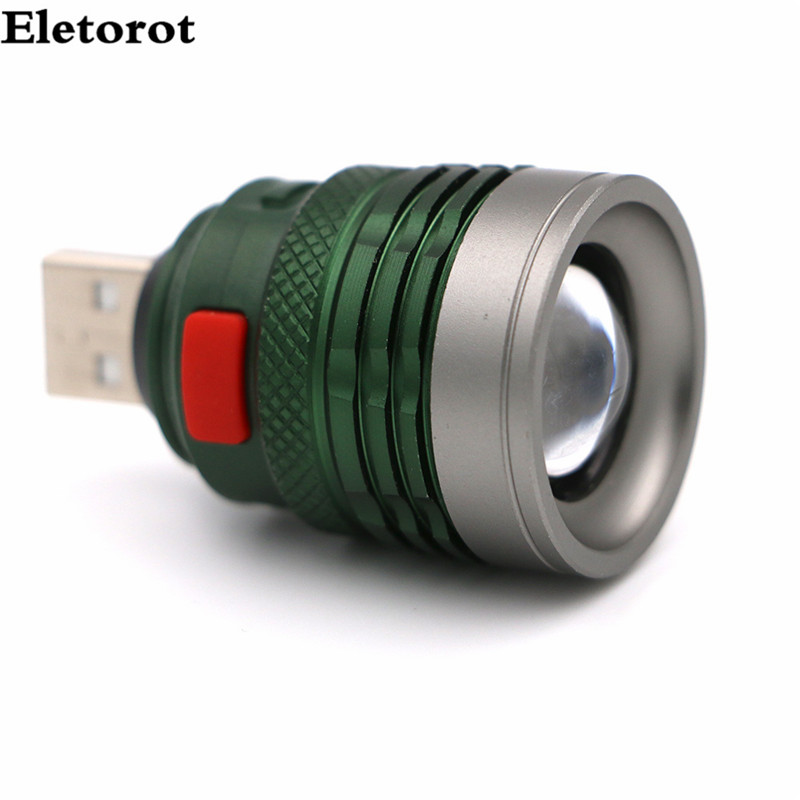 USB LED Flashlight Mini Torch Flash Light 3 Modes Pocket Handy lamp lanterna For Riding Outdoor Power by USB interface 1pc mini keychain pocket torch usb rechargeable light flashlight lamp 0 5w 25lm multicolor mini torch new arrival